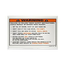 OEM warning label Rectangle Magnet