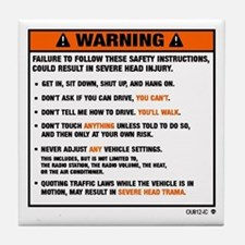 OEM warning label Tile Coaster