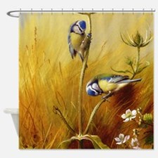 Bluetits On A Teasel Shower Curtain
