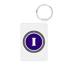 Purple Aluminum Photo Keychain