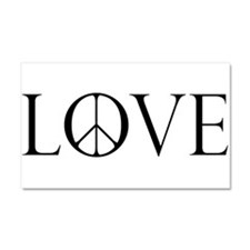 LovePeaceII.png Car Magnet 20 x 12