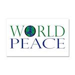 World Peace Car Magnet 20 x 12