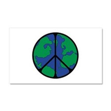 World Peace Round Globe.png Car Magnet 20 x 12