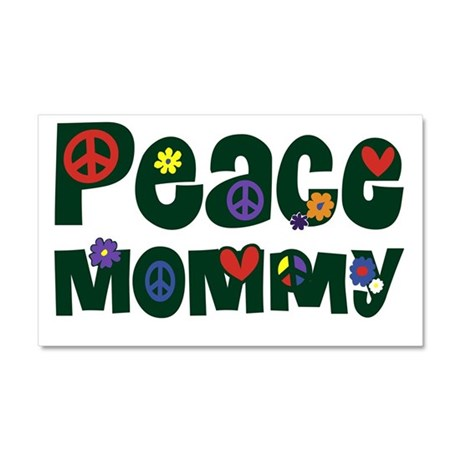 Peace Mommy.png Car Magnet 20 x 12