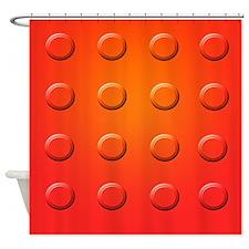 Orange Vault Door Shower Curtain