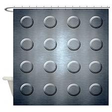 Metal Vault Door Shower Curtain
