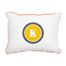 Yellow Rectangular Canvas Pillow