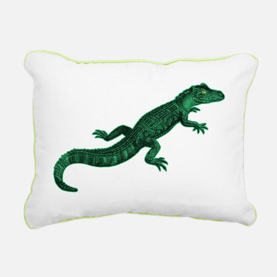 Baby Gator Rectangular Canvas Pillow