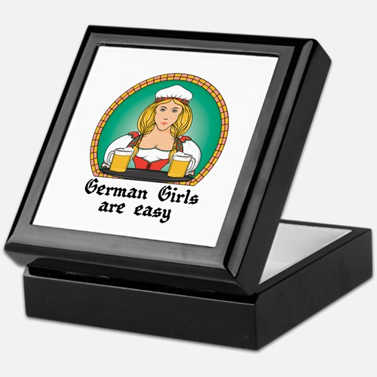 German Girls are Easy Keepsake Box