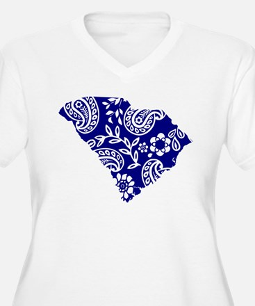 Blue Paisley T-Shirt