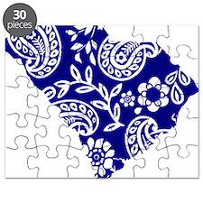 Blue Paisley Puzzle