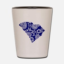 Blue Paisley Shot Glass