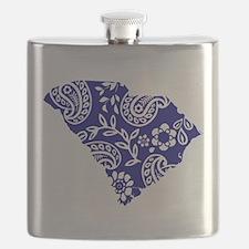 Blue Paisley Flask