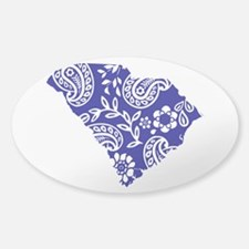 Blue Paisley Sticker (Oval)