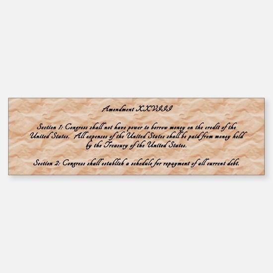 Amendment 28 (a) Sticker (Bumper)