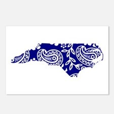 Blue Paisley Postcards (Package of 8)