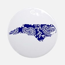 Blue Paisley Ornament (Round)