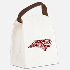 Red Paisley Canvas Lunch Bag