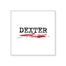 "Dexter Square Sticker 3"" x 3"""