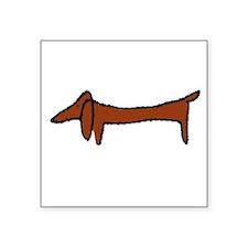 Weiner Dog Rectangle Sticker