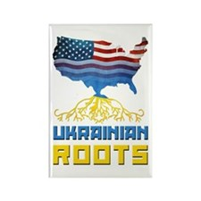 American Ukrainian Roots Rectangle Magnet
