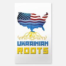 American Ukrainian Roots Decal