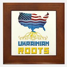 American Ukrainian Roots Framed Tile