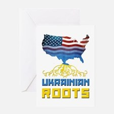 American Ukrainian Roots Greeting Card