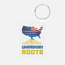 American Ukrainian Roots Keychains