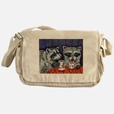 Raccoons at the Cafe Messenger Bag