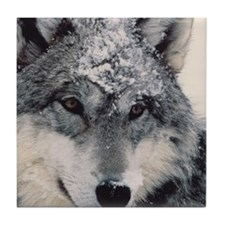 Unique Wolf Tile Coaster