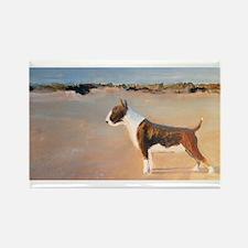 A Bull Terrier Rectangle Magnet