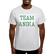 TEAM ANIKA  Ash Grey T-Shirt