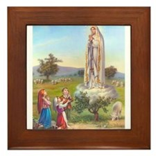 Our Lady of Fatima Framed Tile