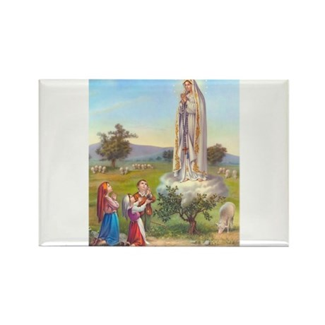 Our Lady of Fatima Rectangle Magnet (100 pack)