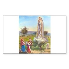 Our Lady of Fatima Rectangle Decal
