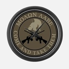 Molon Labe, Come and Take Them Large Wall Clock