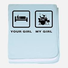 Drummer baby blanket