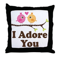 I Adore You Dating Gift Throw Pillow