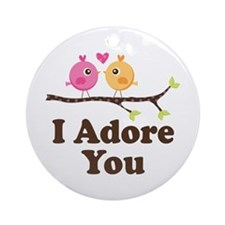 I Adore You Dating Gift Ornament (Round)