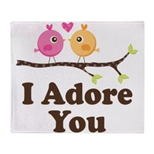 I Adore You Dating Gift Throw Blanket