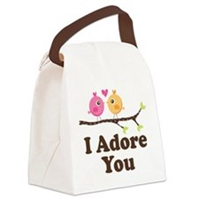 I Adore You Dating Gift Canvas Lunch Bag