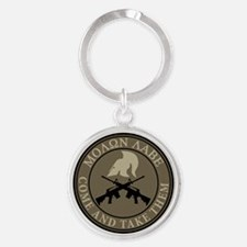 Molon Labe, Come and Take Them Round Keychain