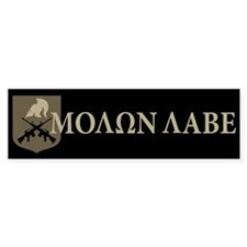 Molon Labe, Come and Take Them Bumper Sticker