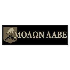 Molon Labe, Come and Take Them Car Sticker