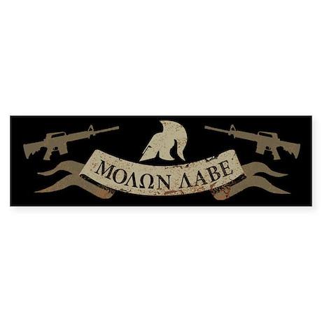 Molon Labe, Come and Take Them Sticker (Bumper)