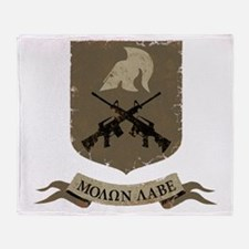 Molon Labe, Come and Take Them Throw Blanket