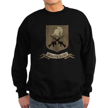 Molon Labe, Come and Take Them Sweatshirt (dark)
