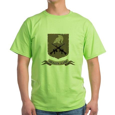 Molon Labe, Come and Take Them Green T-Shirt