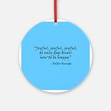Joyful! Text Ornament (Round)